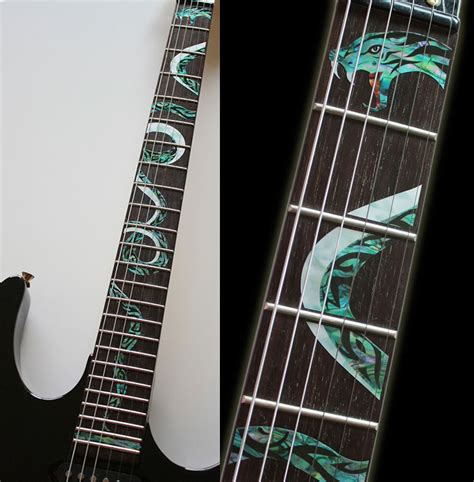 Fret Inlay Stickers twisted snake fret markers inlay stickers decals for