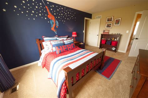 boys spiderman bedroom ideas spiderman inspired kids room by tuskes homes love the dark wall and the bed which