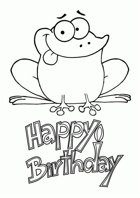 happy frog coloring page happy birthday coloring pages with frogs az coloring pages