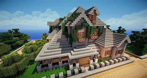minecraft country house french country house minecraft project
