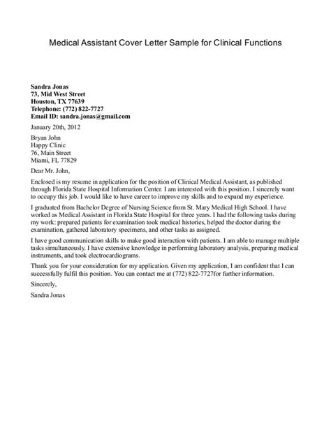 Medical Assistant Resume Cover Letter   Student Resume