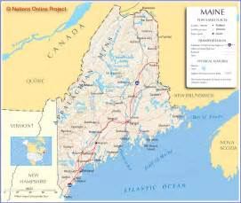 Map Of The State Of Maine by Map Of Maine Map Pictures