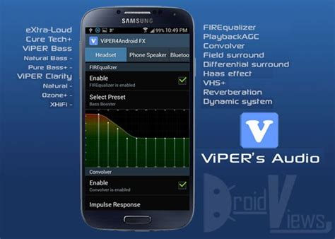 viper for android enjoy amazing audio quality on your android device with viper4android audio effects droidviews