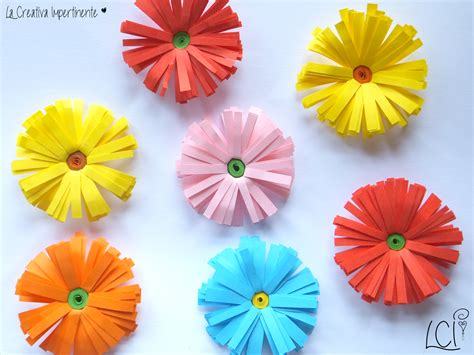 fiori di carta facili per bambini la creativa impertinente come realizzare semplici fiori