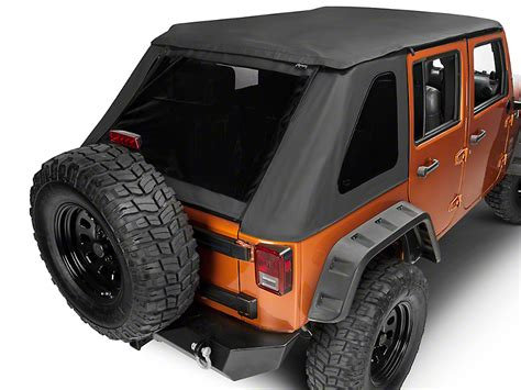 2013 Jeep Wrangler Unlimited Soft Top Kit by Rage Wrangler Frameless Trailview Soft Top 139935 07