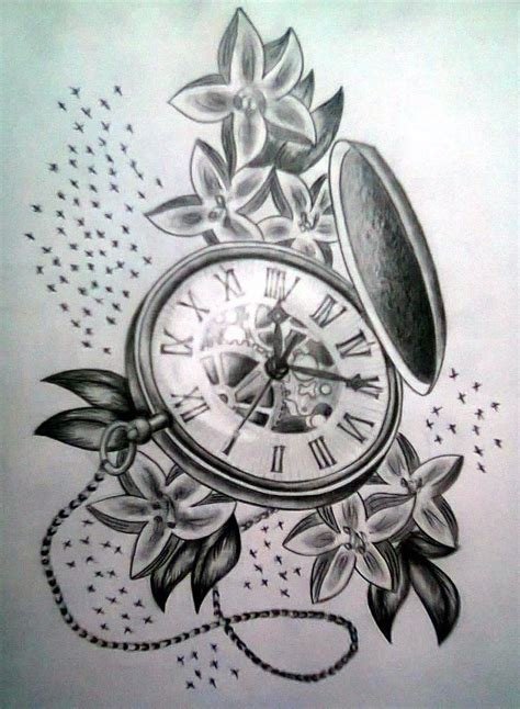old clock tattoo designs pocket clock designs search