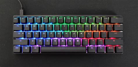 Special Edition Lu Led Rgb vortex pok3r rgb backlit 60 mechanical keyboard brown cherry mx