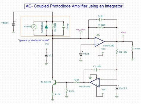 integration circuit photodiode ac coupled photodiode lifier differences on 2 different circuits precision lifiers