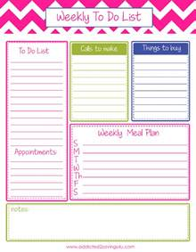 Weekly To Do Calendar Template by Weekly To Do List Planner Printable A Spark Of Creativity