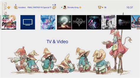 ps4 themes final fantasy final fantasy ix special theme ps4 youtube
