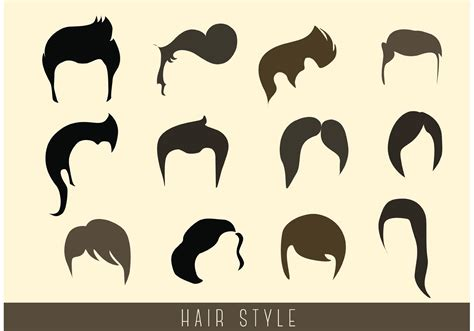 girl hairstyles vector stylish hair style vectors download free vector art