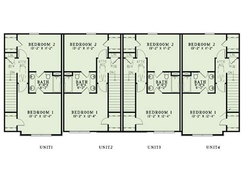 multifamily floor plans multi family house plans apartment plan 025m 0094 at