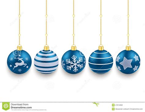 blue christmas service clipart 5 blue baubles white background stock vector illustration of brochure gold 47614692