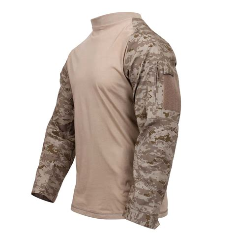 digital camo desert desert digital camo tactical airsoft combat shirt