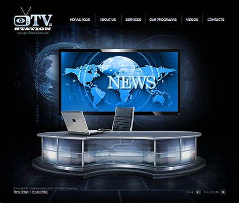Receive Free Website Template Like And Click To Get Free Web Template Television Website Template