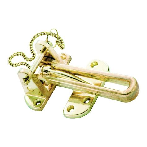 swing door guard first watch security polished brass security pin swing