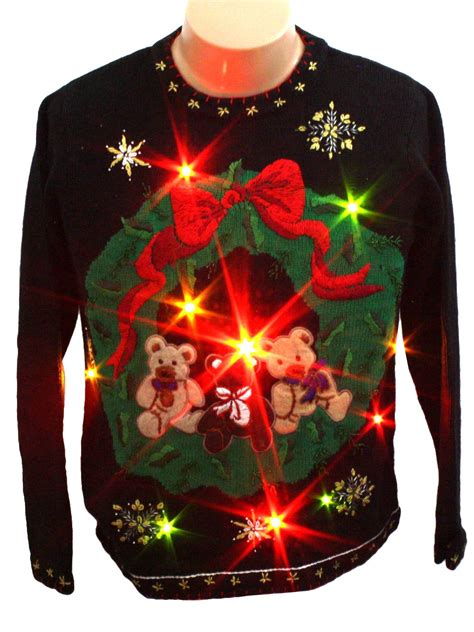 light up ugly christmas sweater b p design unisex