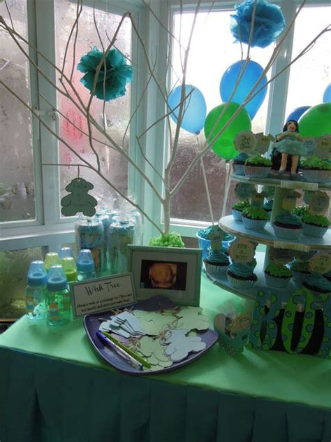 Blue And Green Baby Shower Decorations by Blue Green Baby Shower Ideas