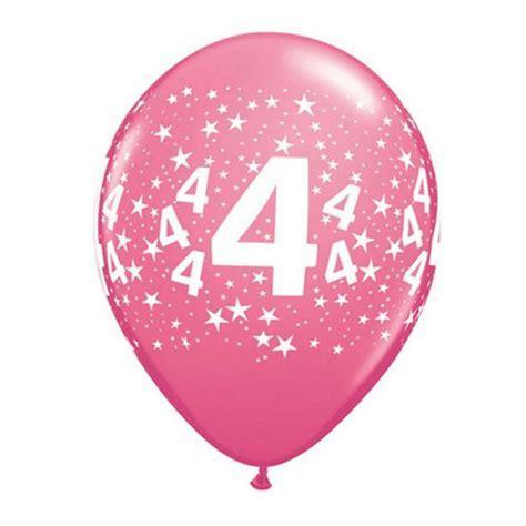 Ballon 4 ans qualatex assortiment tropical
