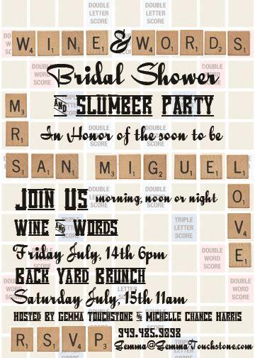 scrabble invitations scrabble bridal shower board theme