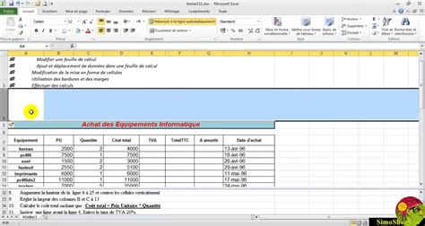 tutorial excel francais formation ms excel french zhongmutika s diary