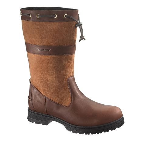 sebago boots sebago dorset high boots s brown pebbled