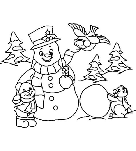 coloring page christmas snowman coloring pages 9