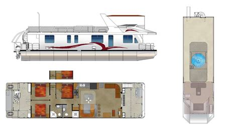 houseboat blueprints custom houseboat sales and manufacturing floorplans