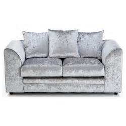 silver velvet sofa crushed velvet furniture sofas beds chairs cushions