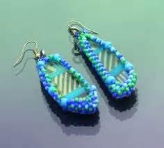 Green Clara Bloom Earrings earrings on