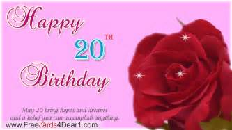 happy 20th birthday quotes quotesgram