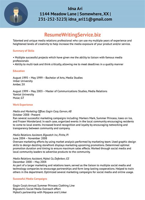 resume relations officer 28 images pr manager resume
