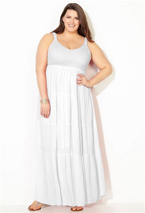 white maxi dress plus size white crochet maxi dress plus size dress avenue the