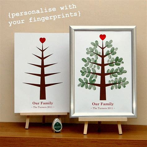 fingerprint tree card template personalised fingerprint tree by those