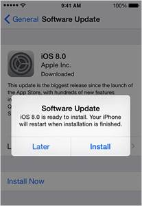 update the ios software on your iphone and ipod
