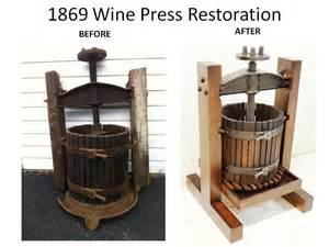 Wine Press Made Antique Wine Press Restoration Reproduction By