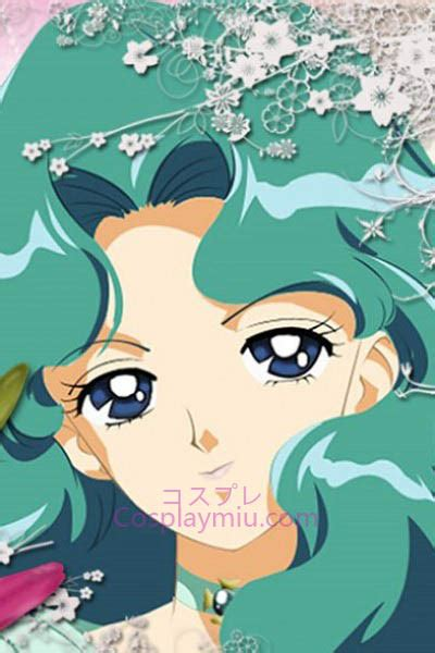 sailor moon sailor neptun michiru kaiou cosplay peruecke