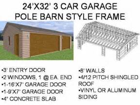 Lovely 24 X 32 Pole Barn Plans #1: 2432-3cg-gbl-001.jpg