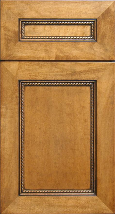Cabinet Door Moulding by Eastern Maple Cabinet Door With Rope Moulding Black