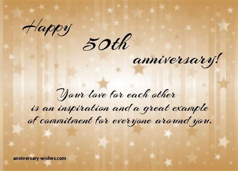 Golden Wedding Anniversary Quotes by 50th Anniversary Wishes Happy 50th Anniversary Quotes