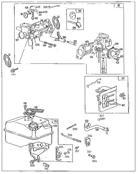 Briggs Amp Stratton Engine Parts Model 130232550101