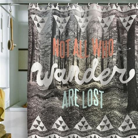 hipster shower curtains hipster shower curtain beautiful quote quot not all who