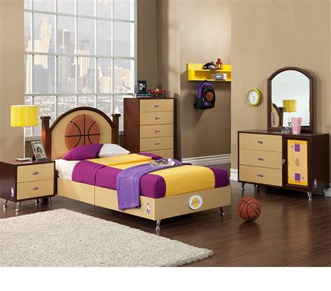 kids bedroom in a box dreamfurniture com nba basketball los angeles lakers