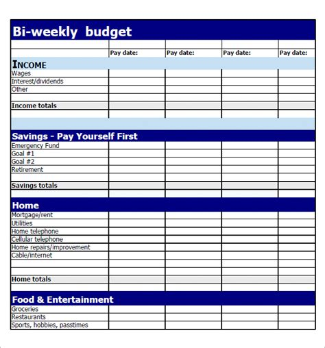 printable monthly budget planner template best photos of simple weekly budget weekly budget
