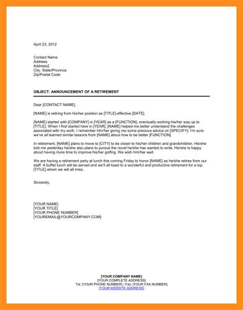 business letter sle announcement 11 sle announcement letter of new business agenda