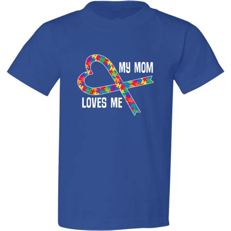 your own autism service autism support my me youth fashion t shirt royal ribbons of awareness t