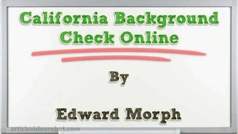California Background Check California Background Check