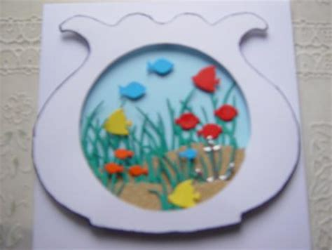 bowl card template fish bowl card template cu4cu cup322593 99 craftsuprint