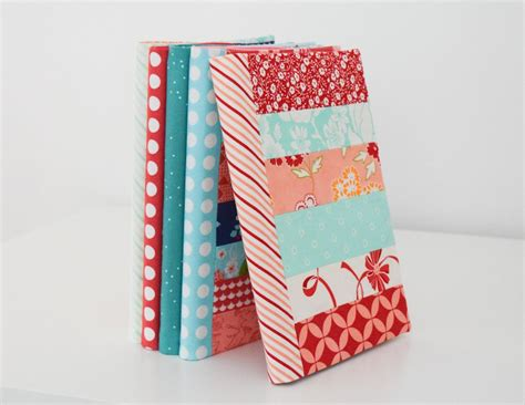 fabric journal pattern shequiltsalot book cover tutorial fabric covered journal