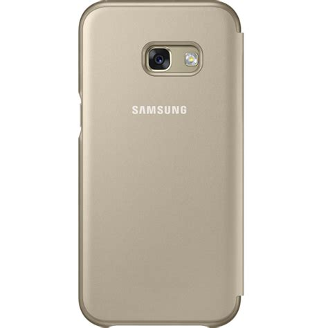Samsung Galaxy A3 2017 A320 Autolock Flip Cover Clear View Mirror 1 samsung neon flip cover gold for samsung a320 galaxy